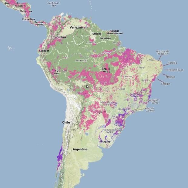 De-forestación América del Sur